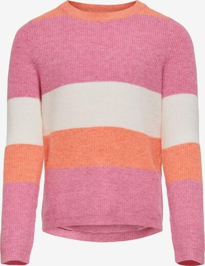 KIDS ONLY Kampsun oranž / roosa / valge, Tootevaade