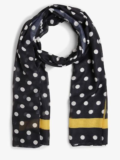 Marie Lund Schal in gelb / schwarz / weiß, Produktansicht
