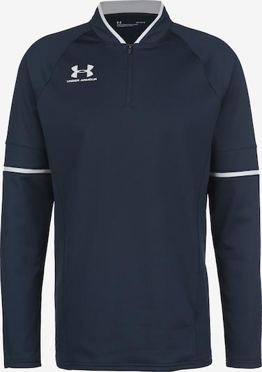 UNDER ARMOUR Sportsweatshirt in de kleur Donkerblauw / Wit, Productweergave