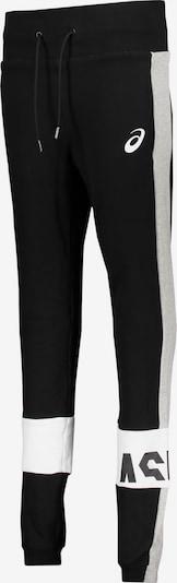 ASICS Hose in graumeliert / schwarz / weiß, Produktansicht