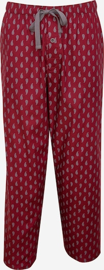 Cyberjammies Pyjamahose 'Frankie Paisley' in graumeliert / merlot, Produktansicht