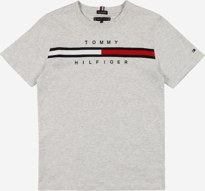 TOMMY HILFIGER Majica | pegasto siva / rdeča / črna / bela barva: Frontalni pogled
