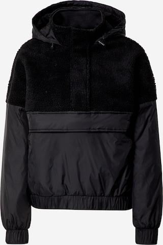Urban Classics Between-Season Jacket 'Sherpa Mix' in Black