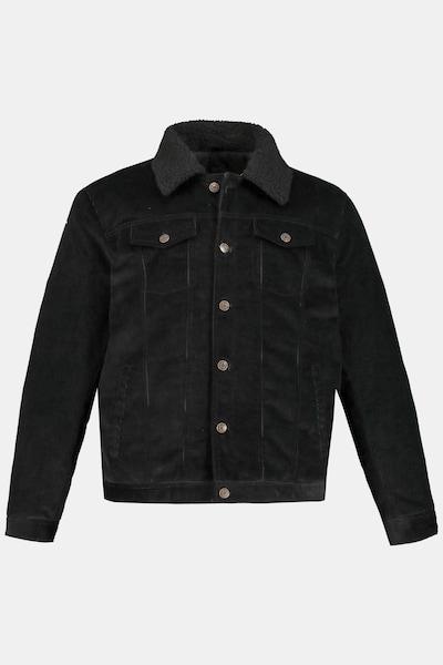 JP1880 Cordjacke in schwarz, Produktansicht