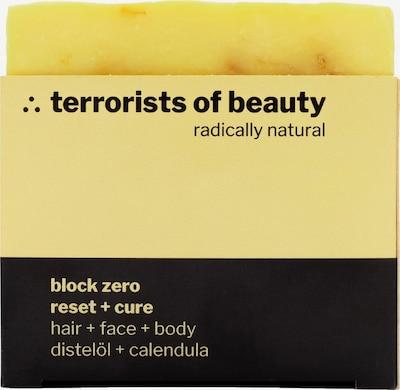 Terrorists of Beauty Seife 'Block Reset + Cure' in gelb / schwarz, Produktansicht