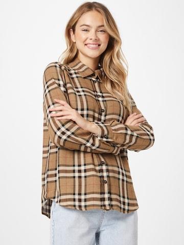 Camicia da donna 'Ryan' di Claire in marrone
