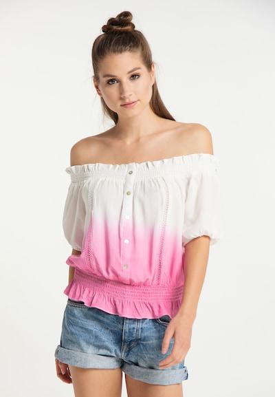 Bluză MYMO pe roz deschis / alb, Vizualizare model