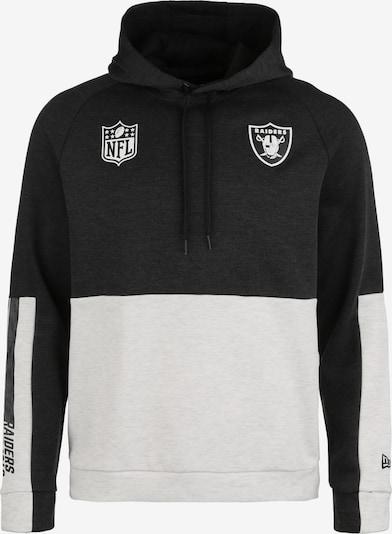 NEW ERA Kapuzenpullover 'Oakland Raiders' in schwarz / weiß, Produktansicht