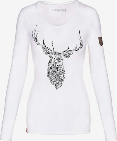 Almgwand Shirt in schwarz / weiß, Produktansicht