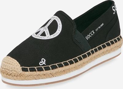Soccx Espadrille mit Artwork und Plateau-Sohle in schwarz, Produktansicht