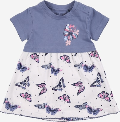 BLUE SEVEN Kleid in taubenblau / pink / weiß, Produktansicht