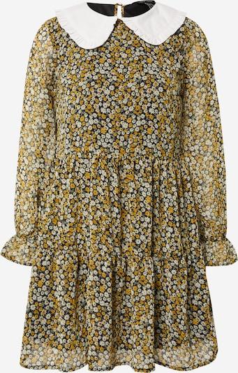 Rochie tip bluză 'DAISY' NEW LOOK pe galben muștar / oliv / negru / alb, Vizualizare produs