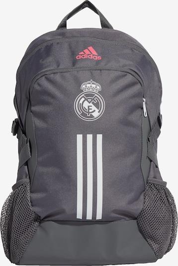 ADIDAS PERFORMANCE Sportrucksack 'Real Madrid' in grau / koralle / weiß, Produktansicht