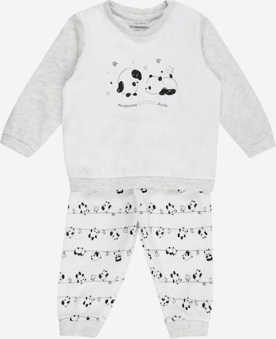 OVS Pijama en gris claro / gris moteado / negro, Vista del producto
