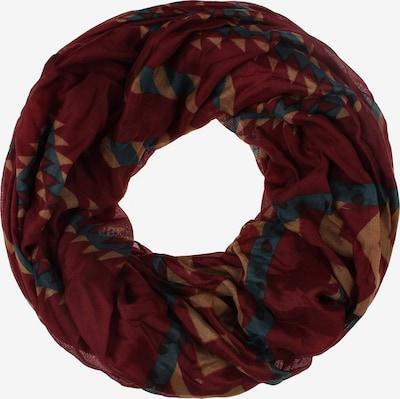 Usha Écharpe tube 'Gaya' en marron / pétrole / mélange de couleurs / rouge foncé, Vue avec produit