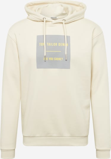 TOM TAILOR DENIM Sweatshirt in de kleur Crème, Productweergave