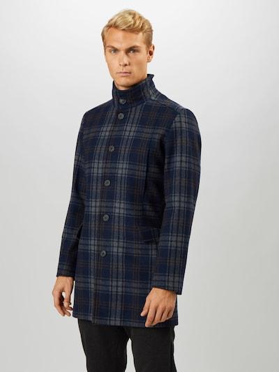 SELECTED HOMME Tussenjas 'MORRISON' in de kleur Navy / Duifblauw / Bruin, Modelweergave