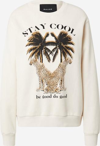 RAIINE Sweatshirt in Beige