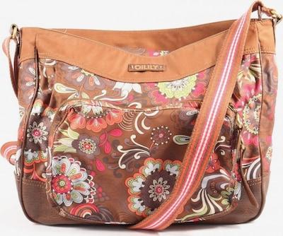 OILILY Stofftasche in One Size in braun / pink / weiß, Produktansicht