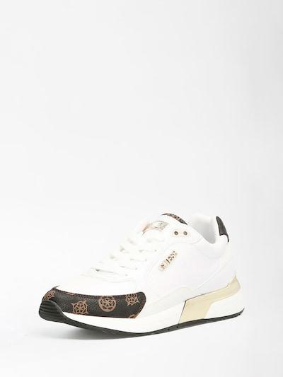 GUESS Sneaker low i brun / mørkebrun / hvid, Produktvisning