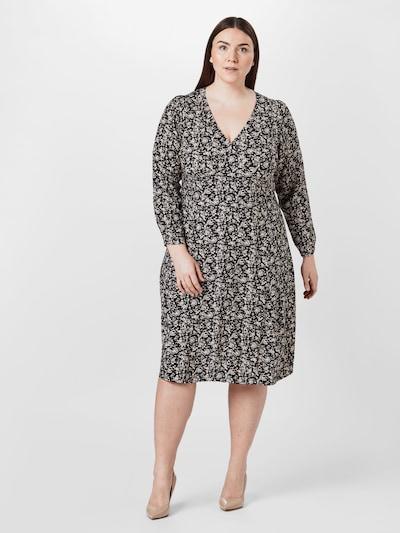 ONLY Carmakoma Kleid in beige / schwarz, Modelansicht
