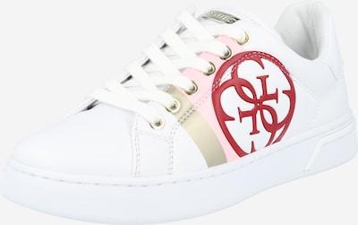GUESS Sneakers laag 'Reata' in de kleur Goud / Lichtroze / Donkerrood / Wit, Productweergave