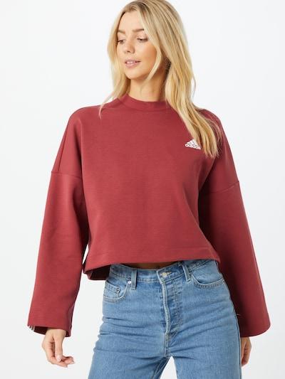 ADIDAS PERFORMANCE Sweatshirt in rot / weiß: Frontalansicht