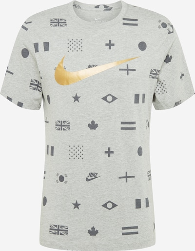 Tricou Nike Sportswear pe auriu / gri închis / gri amestecat, Vizualizare produs