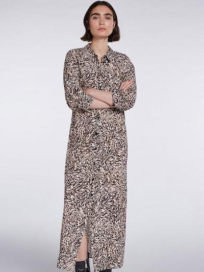 SET Kleid in beige / schwarz / weiß, Modelansicht