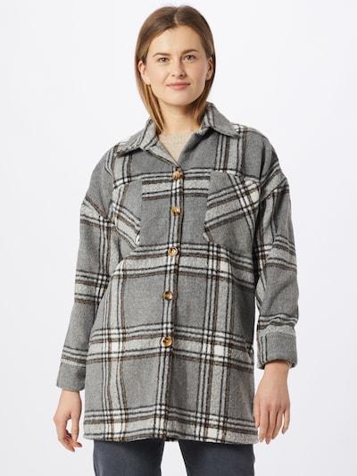 Hailys Mantel 'Clarissa' in beige / grau / schwarz, Modelansicht