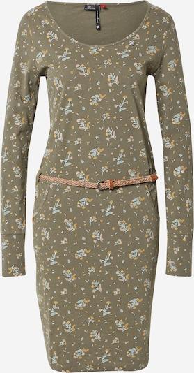 Ragwear Kleid 'MONTANA' in hellblau / gelb / oliv, Produktansicht