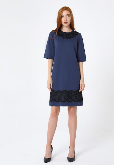 Madam-T Kleid 'Melanina' in blau, Modelansicht