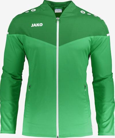 JAKO Sportjacke in grasgrün / hellgrün / weiß, Produktansicht