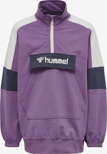 Hummel Sweatshirt in nachtblau / lila / weiß, Produktansicht