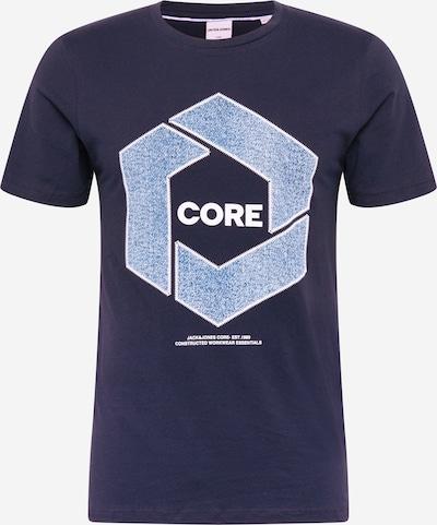 JACK & JONES Shirt 'TUBE' in de kleur Blauw / Navy / Wit, Productweergave