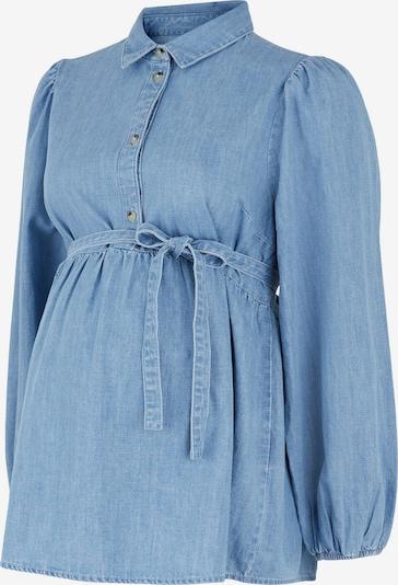 MAMALICIOUS Blouse 'MLATHENS' in de kleur Blauw denim, Productweergave