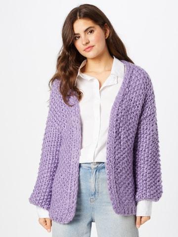 FRNCH PARIS Knit Cardigan 'Lorea' in Purple
