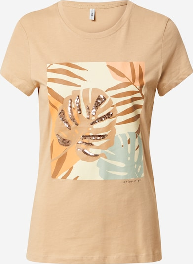 ONLY T-shirt 'MAYA' en beige / opal / marron / noisette, Vue avec produit