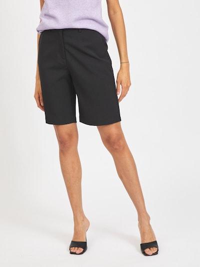 VILA Pantalon 'Nely' en noir: Vue de face