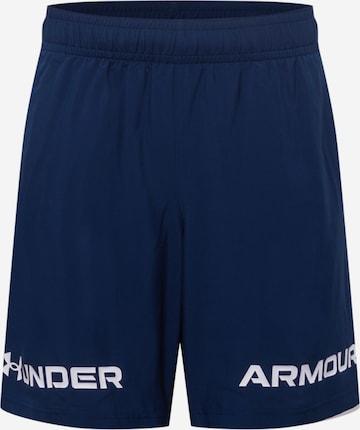 Pantalon de sport UNDER ARMOUR en bleu