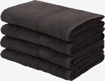 MY HOME Shower Towel in Black