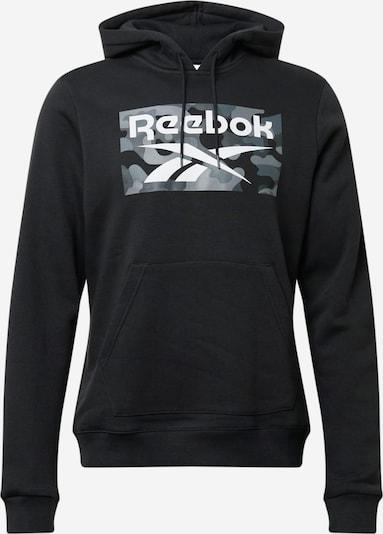 Reebok Sport Sportiska tipa džemperis, krāsa - gaiši pelēks / tumši pelēks / melns / balts, Preces skats