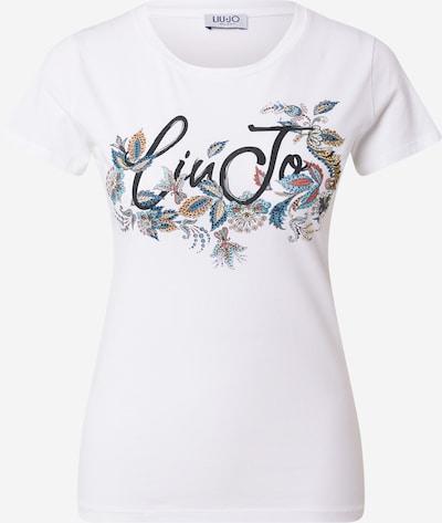 LIU JO JEANS T-Shirt 'MODA' in beige / blau / orange / schwarz / weiß, Produktansicht