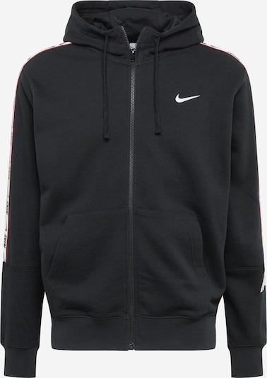 Nike Sportswear Svīteris sarkans / melns / balts, Preces skats