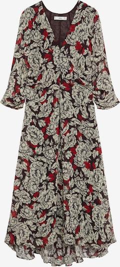 MANGO Kleid 'Julia' in rauchgrau / dunkelgrau / feuerrot / schwarz, Produktansicht