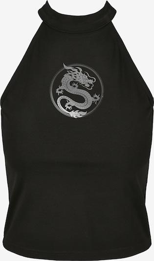 Merchcode Haut 'Dragon' en noir / argent, Vue avec produit