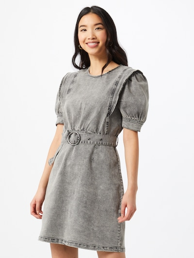 Noisy may Kleid 'LISA' in grey denim, Modelansicht