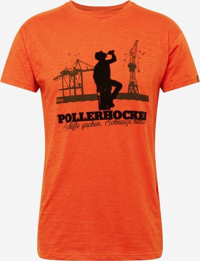 Derbe T-Krekls, krāsa - tumši oranžs / melns, Preces skats