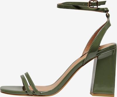ONLY Sandały z rzemykami 'ALYX' w kolorze trawa zielonam: Widok z przodu