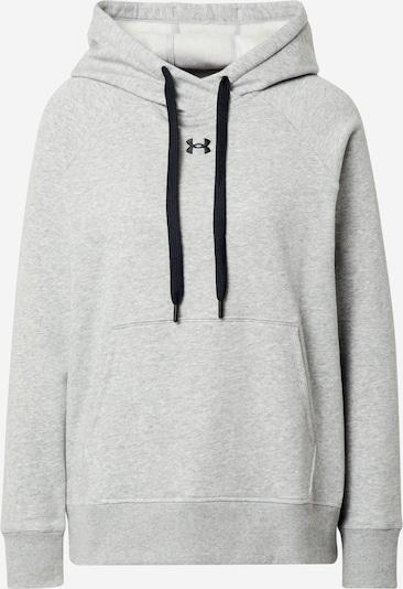 UNDER ARMOUR Sport sweatshirt 'Rival' i grå / svart, Produktvy